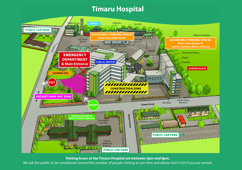 Timaru Hospital Map